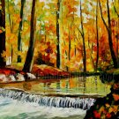 Modern impressionism palette knife oil painting on canvas kp179