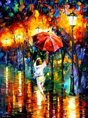 Modern impressionism palette knife oil painting on canvas kp183