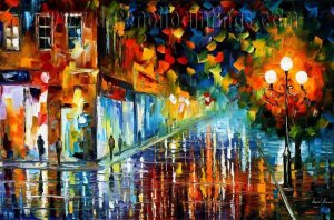 Modern impressionism palette knife oil painting on canvas kp184