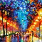 Modern impressionism palette knife oil painting on canvas kp187