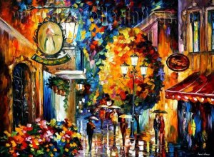 Modern impressionism palette knife oil painting on canvas kp188