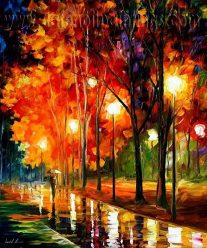 Modern impressionism palette knife oil painting on canvas kp193