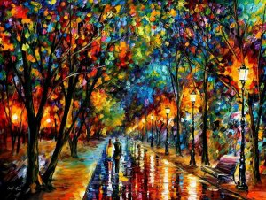 Modern impressionism palette knife oil painting on canvas kp197