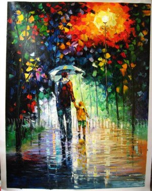 Modern impressionism palette knife oil painting on canvas kp201