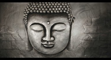 Contemporary zen art Buddha oil painting Buddha018