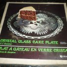 VINTAGE INIDIANA GLASS CRYSTAL CAKE SANDWICH PLATTER NMB