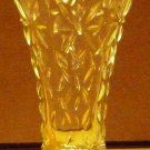 VINTAGE CLEAR GLASS DECORATIVE PATTERN CRYSTAL BUD VASE