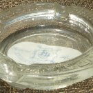 VINTAGE CLEAR GLASS FEDERAL HOTEL KUALA LUMPUR ASHTRAY
