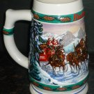 1993 BUDWEISER HOLIDAY COLLECTION STEIN CERAMARTE BRAZIL 'SPECIAL DELIVERY'