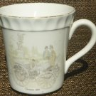 VINTAGE CROWN STAFFORDSHIRE FINE BONE CHINA COFFEE TEA CUP MUG Daimler 1886