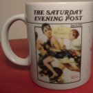 "NORMAN ROCKWELL ""NO SWIMMING"" SATURDAY EVENING POST MUG"