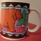 COLLECTIBLE BLACK BEAR PORCELAIN MUG BY GOTSCHALK'S GRAPHICS
