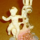 VINTAGE CANDLEHOLDER ITALY CHERUBS CUPID SMALL CANDLE