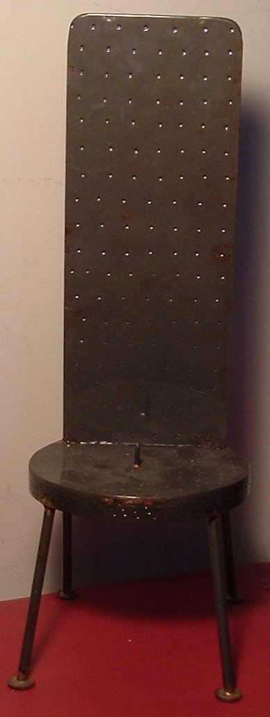 ONE OF A KIND CONTEMPORARY STYLE CANDLE HOLDER METAL CHAIR VOTIVE PILAR
