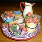 CHARMING CANDLE JAR COVER CANDLE CAPPER GARDEN FRUIT PARTY