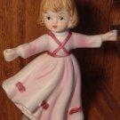 VINTAGE VERONA VERGASSI ADORABLE PORCELAIN GIRL FIGURINE CANDLEHOLDER 1979