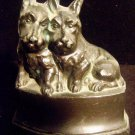 ANTIQUE NUART CREATIONS CAST IRON TERRIERS 2 BOOKENDS DOOR STOPPERS PAPER WEIGHT