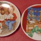 HALLMARK COLLECTIBLE PLATES SET OF 2 '90 & '92