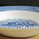 "VINTAGE CURRIER & IVES BRIMED SOUP BOWL ""EARLY WINTER"""