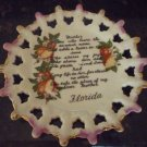 VINTAGE GORGEOUS MOTHER DAY PLATE FLORIDA LATTICE PORCELAIN
