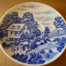 VINTAGE NASCO JAPAN HOMESTEAD WHITE & BLUE PORCELAIN SAUCER