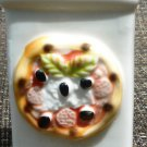 CHARMING PORCELAIN CERAMIC PIZZA SEASONING CONTAINER JAR