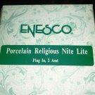 ENESCO IVORY PORCELAIN RELIGIOUS NIGHT LIGHT NOAH'S ARK NMB
