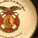 THE MILITARY ORDER OF THE WORLD WARS ASHTRAY TAKE TIME TO SERVE YOUR COUNTRY