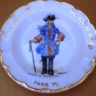 VINTAGE ANTIQUE GOUMOT- LABESSE LIMOGES PLATE ASHTRAY 'CARDES DU CORPS'