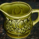VINTAGE GREEN GLAZED CERAMIC MILK PITCHER CREAMER JAPAN