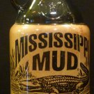 VINTAGE MISSISSIPPI MUD 1 PINT BLACK & TAN BOTTLE DECANTER PITCHER
