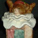 FITZ AND FLOYD CERAMIC CHRISTMAS TRINKET BOX TEDDY BEAR SURPRISE