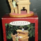 HALLMARK KEEPSAKE ORNAMENT LETTER SANTA WISH LIST TREE ORNAMENT 1995 CHRISTMAS
