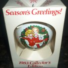 VINTAGE COLLECTIBLES 1983 CAMPBELL CHRISTMAS ORNAMENT GLASS BALLS