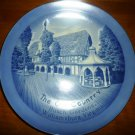 BLUE PORCELAIN PLATE OLD COUNTRY BUSCH GARDENS WILLIAMSBURG LUGENES JAPAN