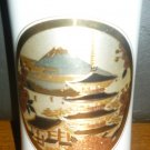 BEAUTIFUL PORCELAIN VASE JAPAN CHOKIN ART ETCHED METAL EMBLEM