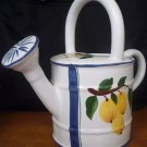 HAND PAINTED WATER CAN PLANTER CERAMIC JAY WILFRED DIU  BY SADEK IN PORTUGAL