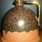 MARBLESED GREEN CERAMIC YAPACUNCHI EQUADOR ARTIST SIGNED Montesimos VASE PITCHER