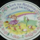 CHARMING PORCELAIN ENESCO 1992 LET US REJOYCE & BE GLAD GIFT PLATE DECORATIVE