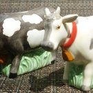 CHARMING J.WILFRED SADEK COWS PORCELAIN SALT & PAPER SHAKERS