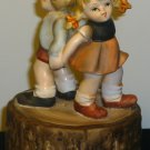 GORGEOUS VINTAGE POCELAIN MUSIC BOX BY FLAMBRO COLLECTORS CHOICE DANCING KIDS