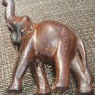 AFRICAN ART SAFARI WOOD CARVING FIGURINE ELEPHANT 5""