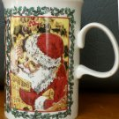 GORGEOUS PORCELAIN MERRY CHRISTMAS MUG DUNOON SCOTLAND GREETINGS FROM SANTA
