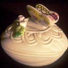 BEAUTIFUL VINTAGE PORCELAIN LEFTON TRINKET BOX BUTTERFLY