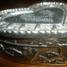 CHARMING PEWTER HEART LIDDED TRINKET BOX TW PEWTER STAR