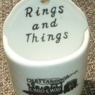 CHARMING PORCELAIN SMALL TRINKET RING HOLDER RING AND THINGS CHATTANOOGA