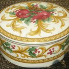 "GORGEOUS PORCELAIN MIKASA ""HOLIDAY ORCHARD"" LIDDED TRINKET BOX SUGAR BOWL JAPAN"