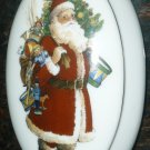 GORGEOUS REUTTER GERMANY 1985 PORCELAIN SANTA JEWELRY TRINKET BOX