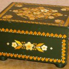 VINTAGE GORGEOUS JEWELRY TRINKET WOODEN BOX FROM LATVIA BALTICS WITH INLAYS
