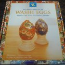 SET OF THE TRADITIONAL ART OF WASHI EGGS DECORATING WITH CHIYOGAMI PAPERS RED